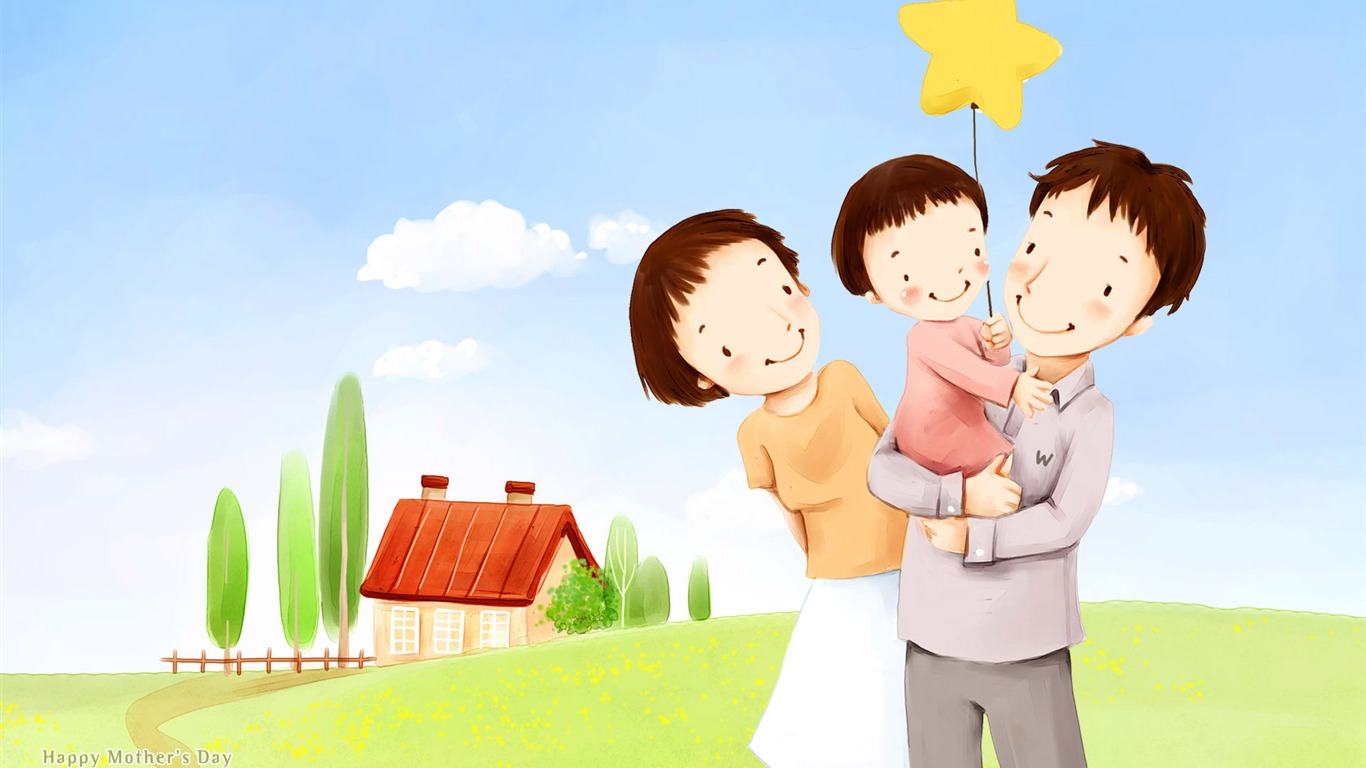 Childrens_illustration_of_Sweet_Family_on_Mothers_day2011.5.31