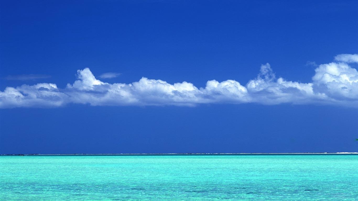 タヒチアンターコイズブルーの海と青空壁紙プレビュー 10wallpaper Com