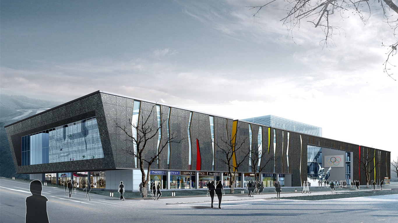 3d Architectural Rendering Of Commercial Business Centre