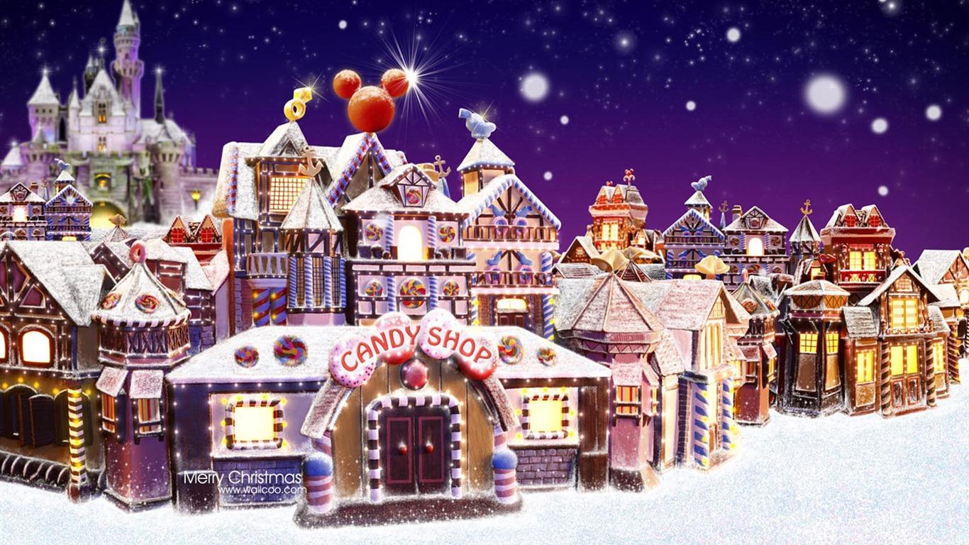 Gingerbread Villages Hong Kong Disneyland Christmas Town Wallpaper