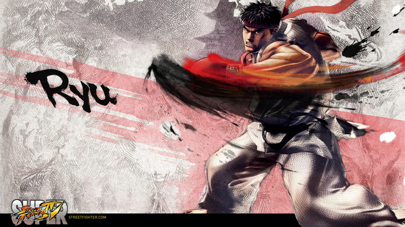 Ryu-Super_Street_Fighter_4_original_painting_wallpaper