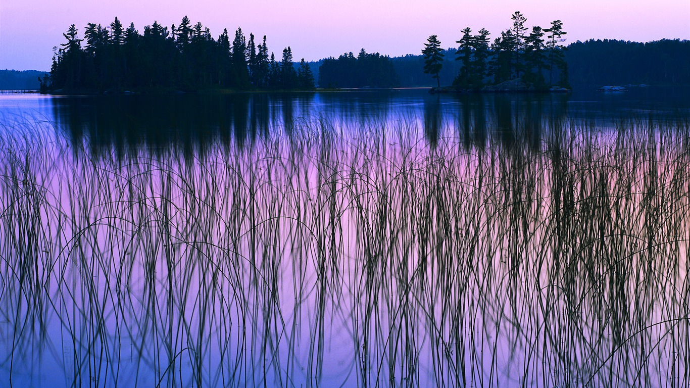 Sunset_Lake_wallpaper_under_the_gentle