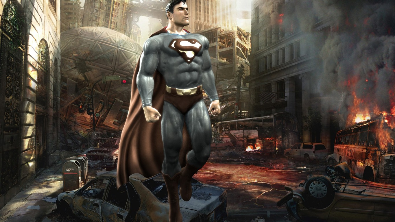 Superman En Mortal Kombat Vs Dc Universe Game Wallpaper