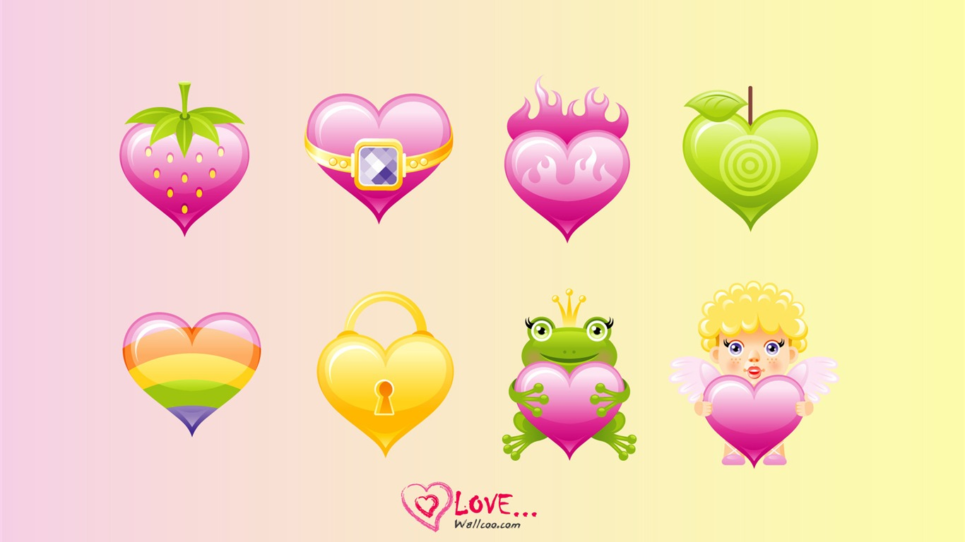 cute_love_-_Valentines_Day_heart-shaped_design_wallpaper