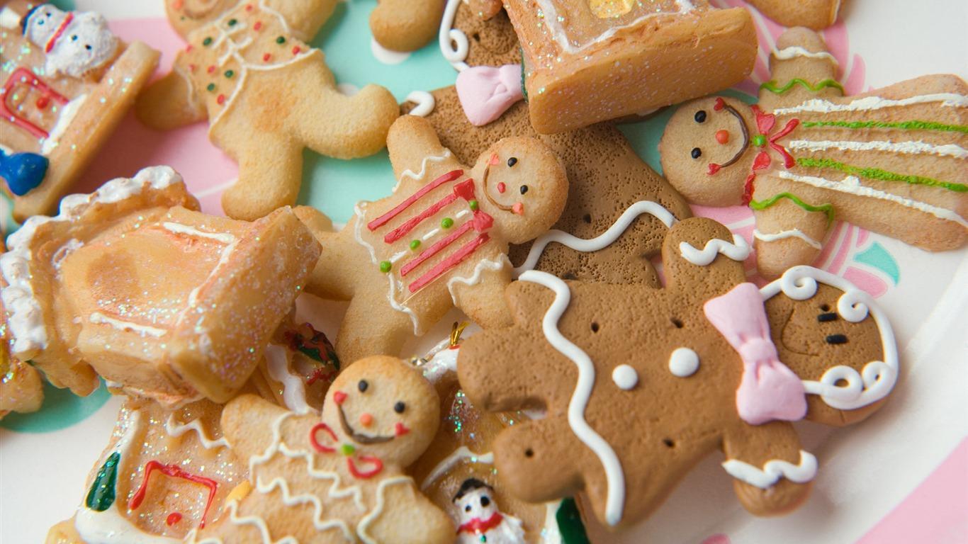 Festivals Lovely Christmas Gingerbread Man Wallpaper