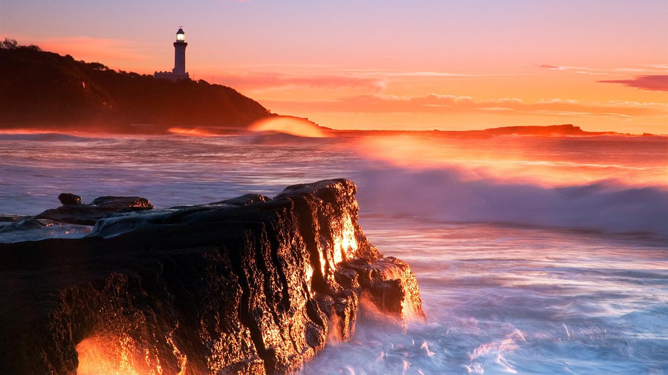 オーストラリア 日の出壁紙ノラポイント灯台プレビュー 10wallpaper Com