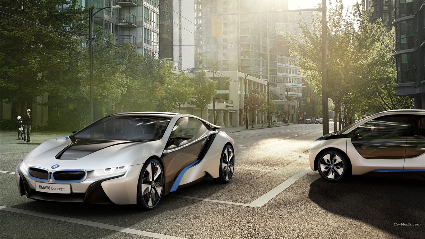 Used Bmw Z4 >> BMW i3-i8 brand concept car HD wallpaper-1366x768 Download ...