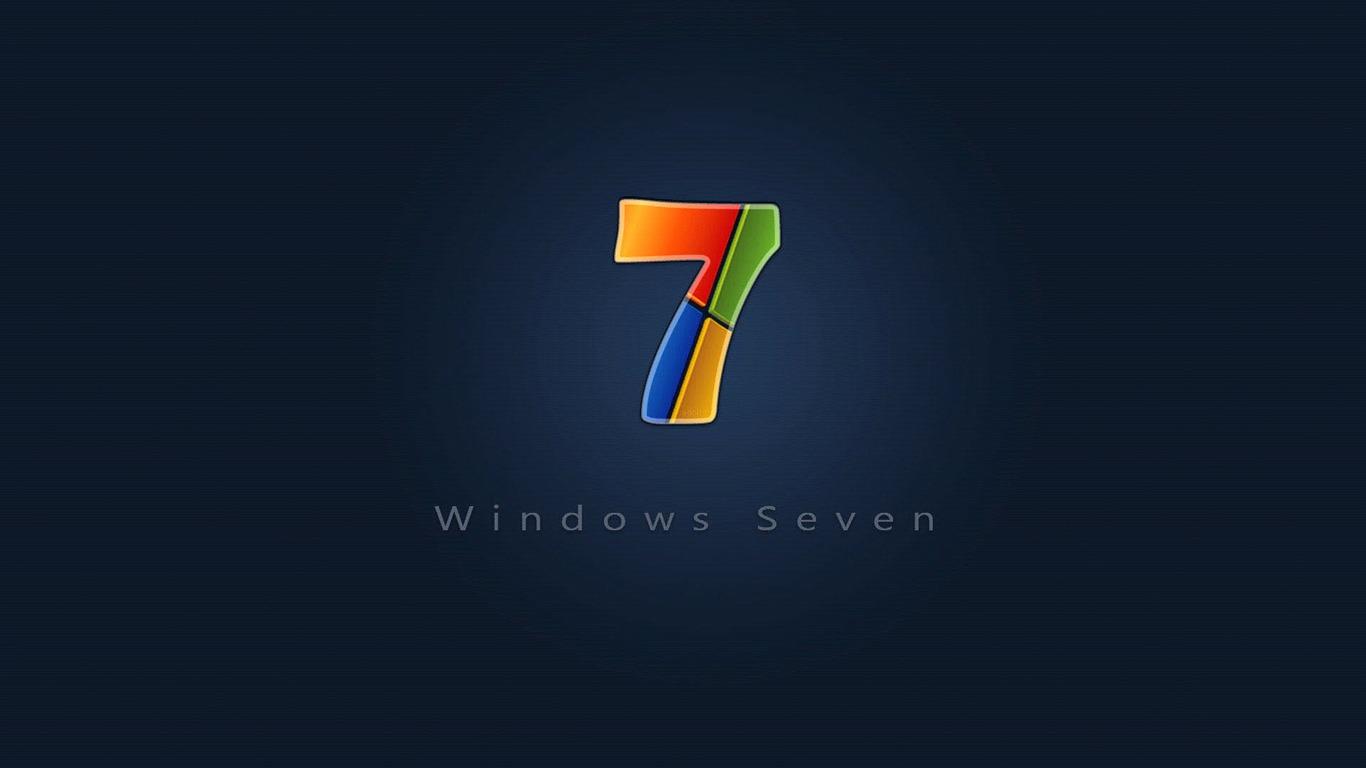 カラフル Windows 7- ブランドの壁紙の選択-1366x768ダウンロード