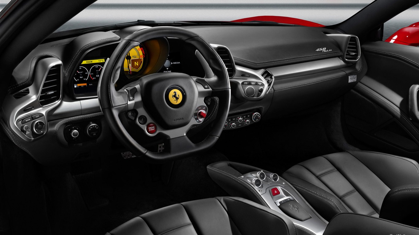 Range Rover Suv >> Interior space-Ferrari 458 Series Sports car wallpaper ...