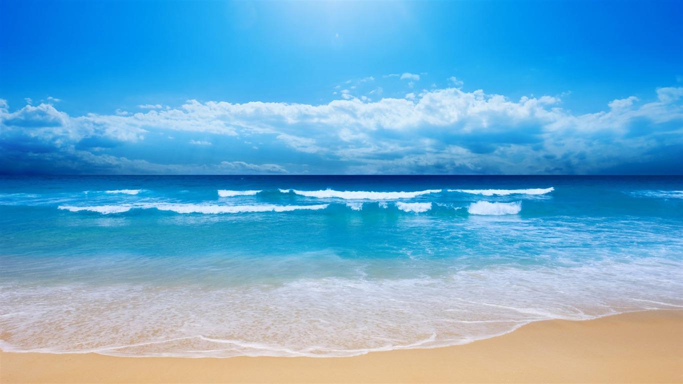 小さな海の波 自然風景デスクトップ壁紙プレビュー 10wallpaper Com