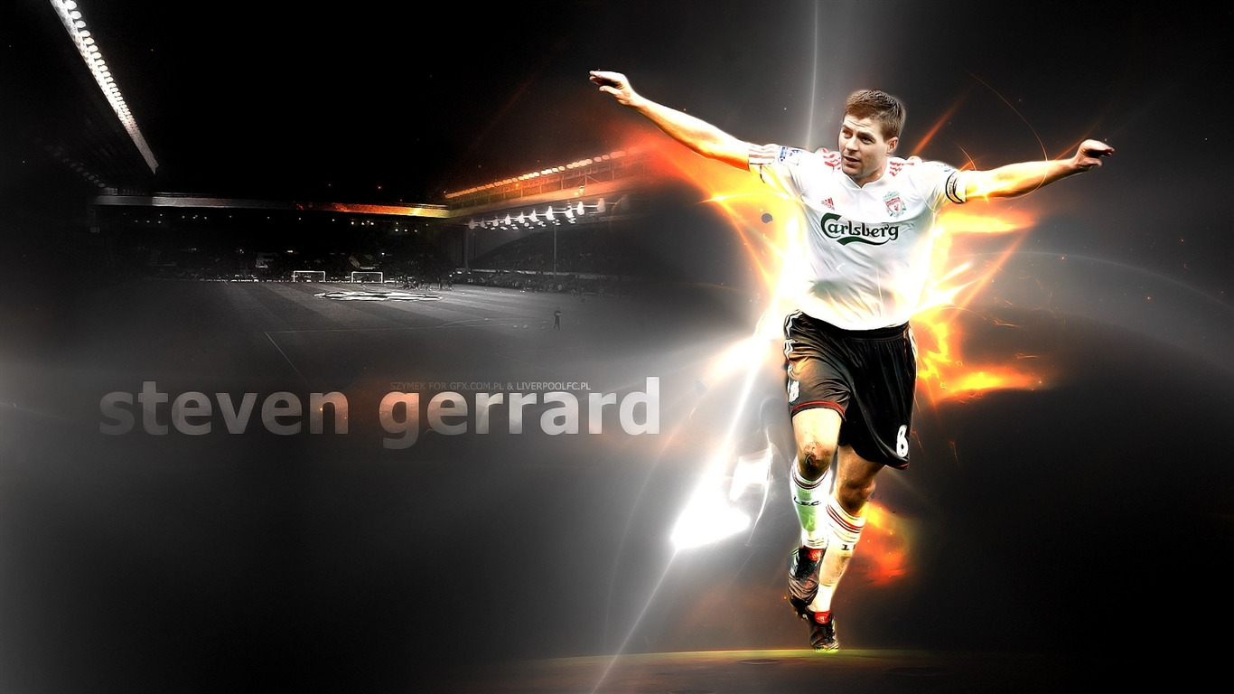 Steven Gerrard Football Sport Wallpaper Wallpaper Series