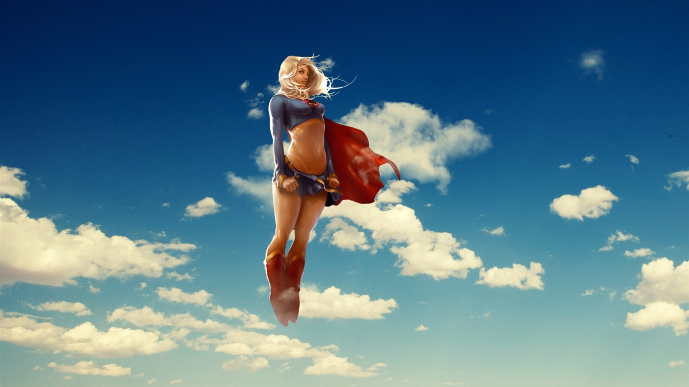 supergirl-3d creative design desktop wallpaper preview | 10wallpaper