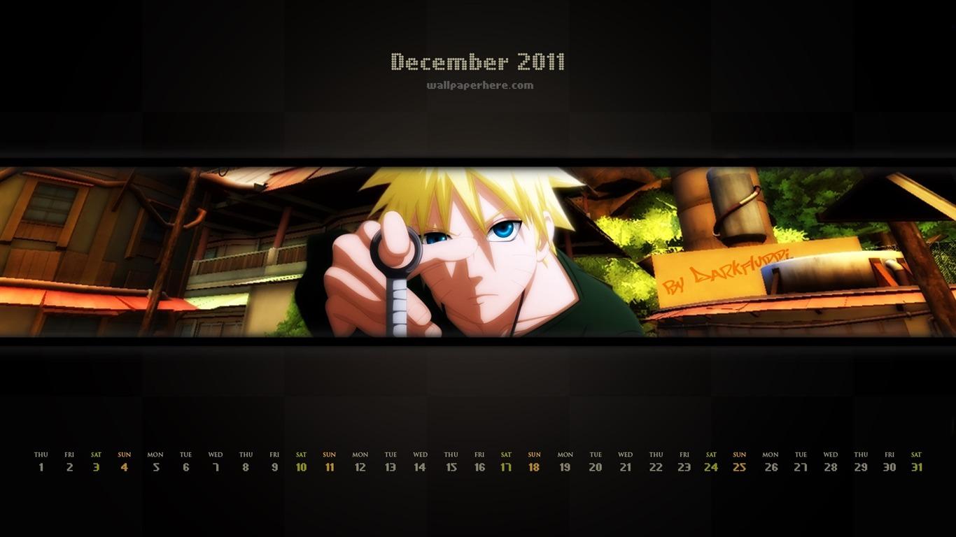 Naruto ナルト 2011年12月 カレンダー壁紙画像集プレビュー
