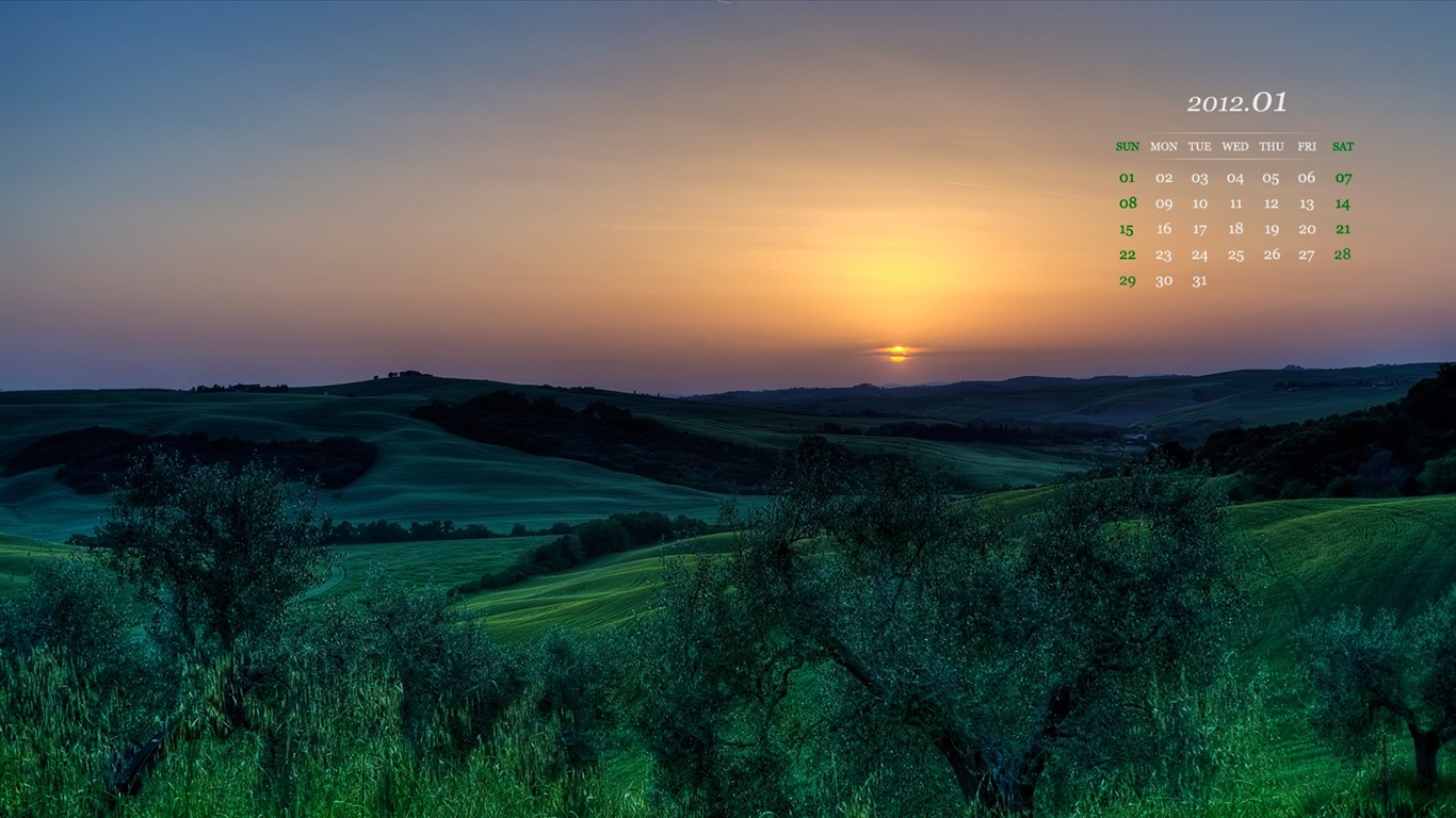Sunset-January_2012_calendar_desktop_themes_wallpaper2011.12.31