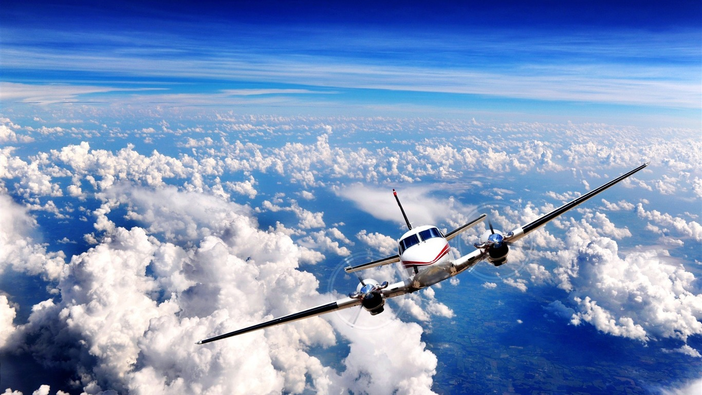 aircraft in flight-civil aviation aircraft desktop wallpapers