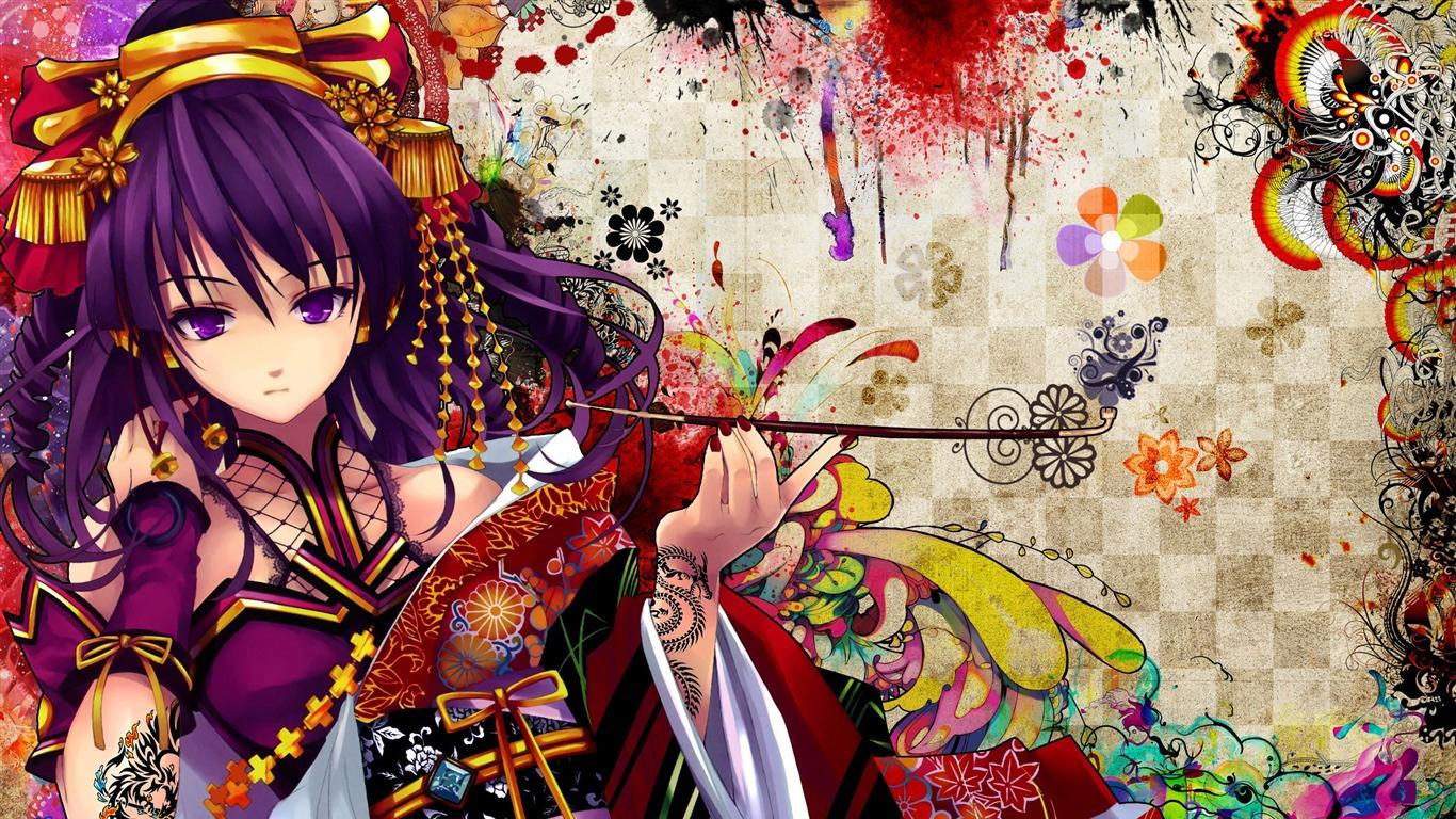 fille manga-Cartoon caractères Fond d'écran HD Aperçu | 10wallpaper.com