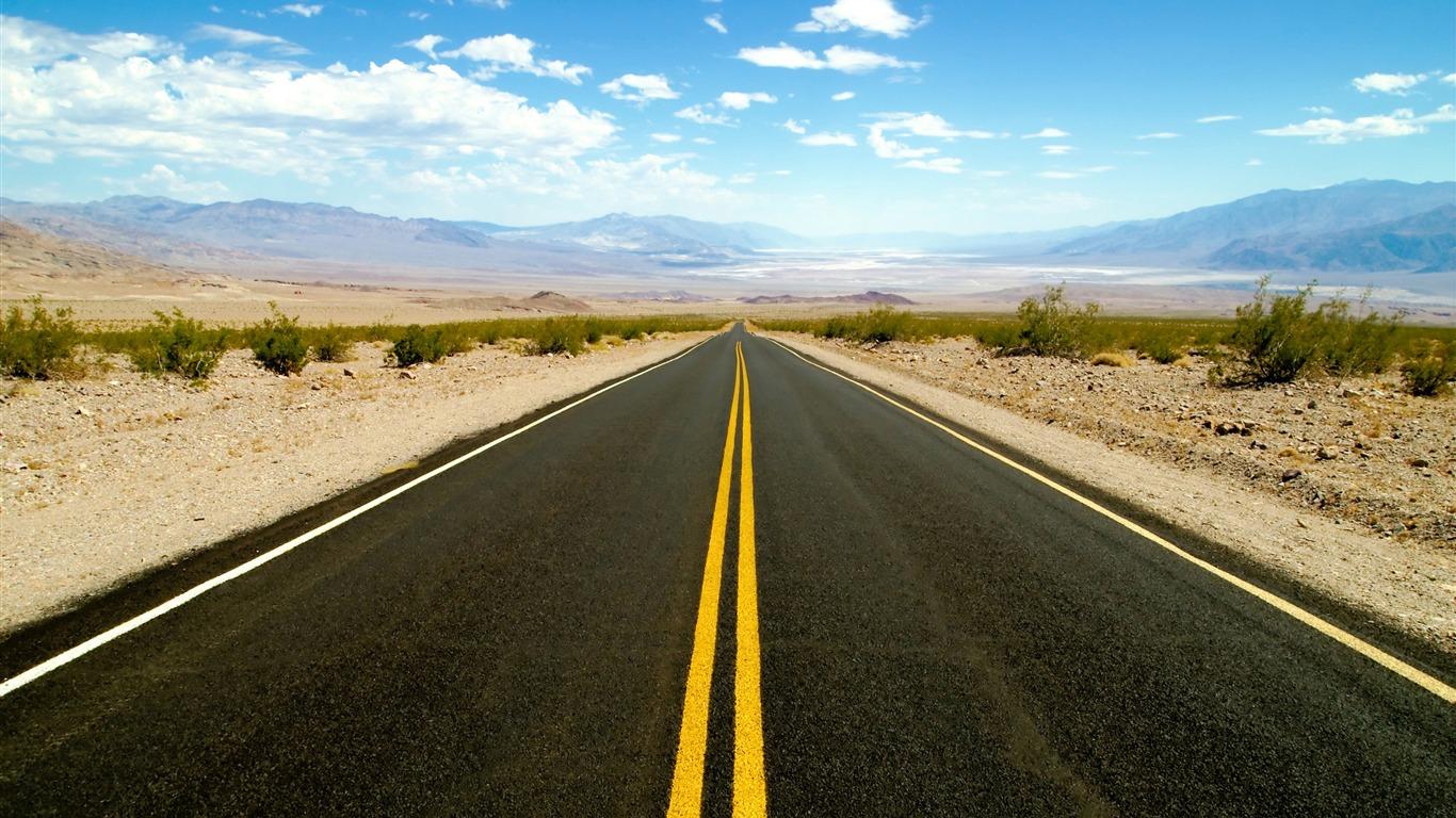 死の谷への道 素晴らしい砂漠の風景のデスクトップ壁紙プレビュー