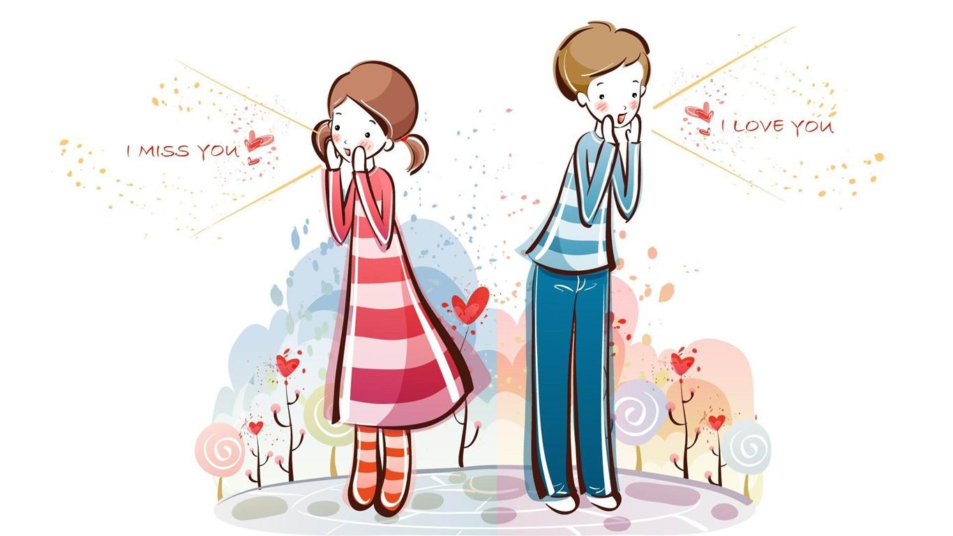 I Love You Romantic Valentines Day Vector Wallpaper Album Preview 10wallpaper Com
