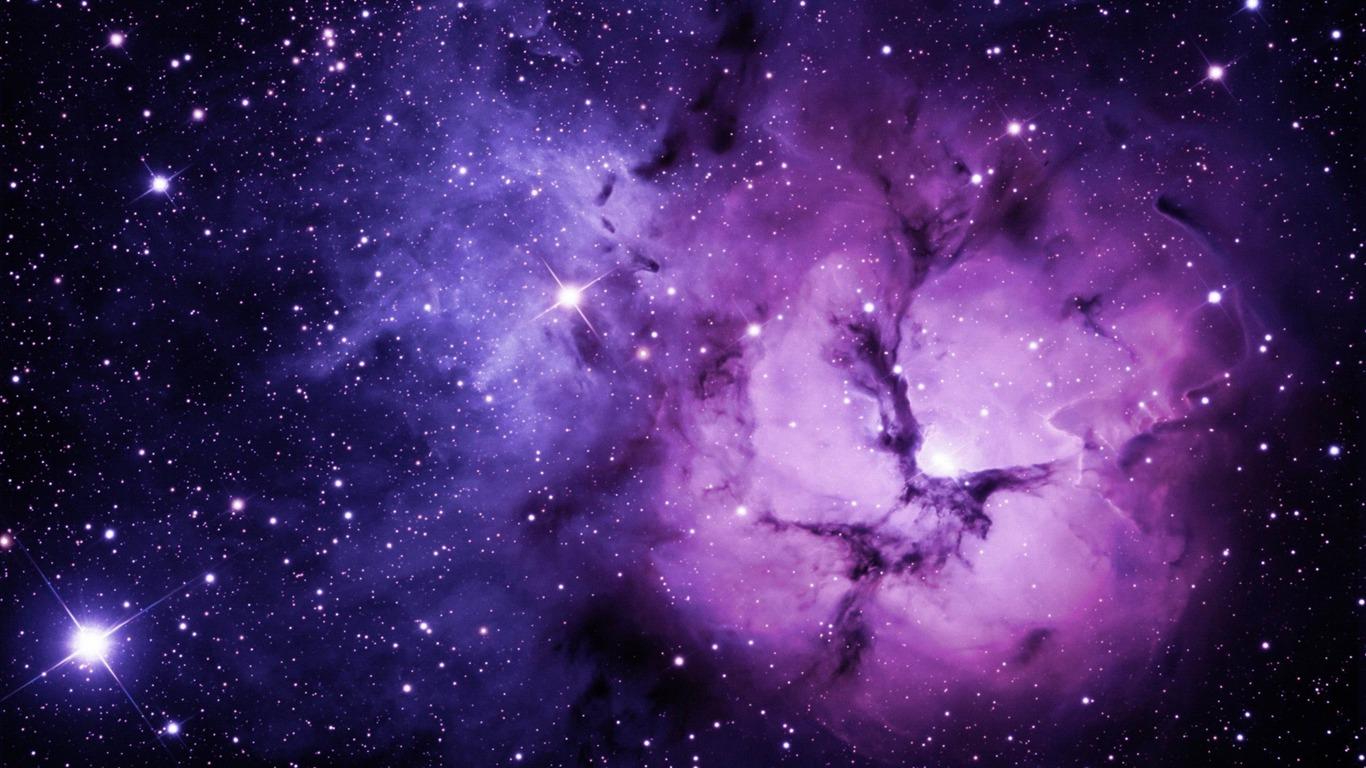 Purple nebula space photography desktop wallpaper 1366x768 for Space wallpaper 1366x768
