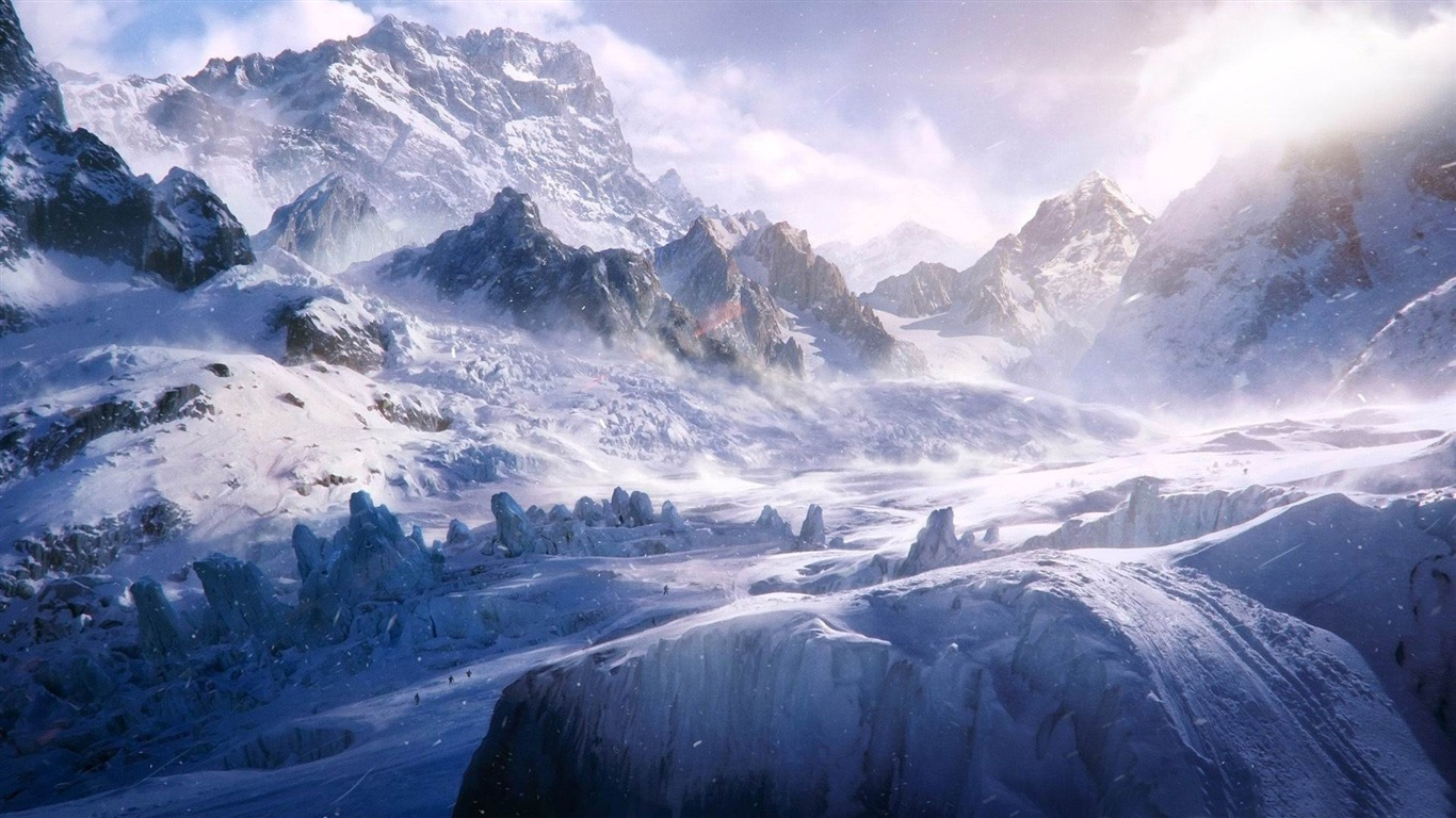 Montagne Expedition Fond D Ecran D Hiver Theme De La Neige Apercu 10wallpaper Com