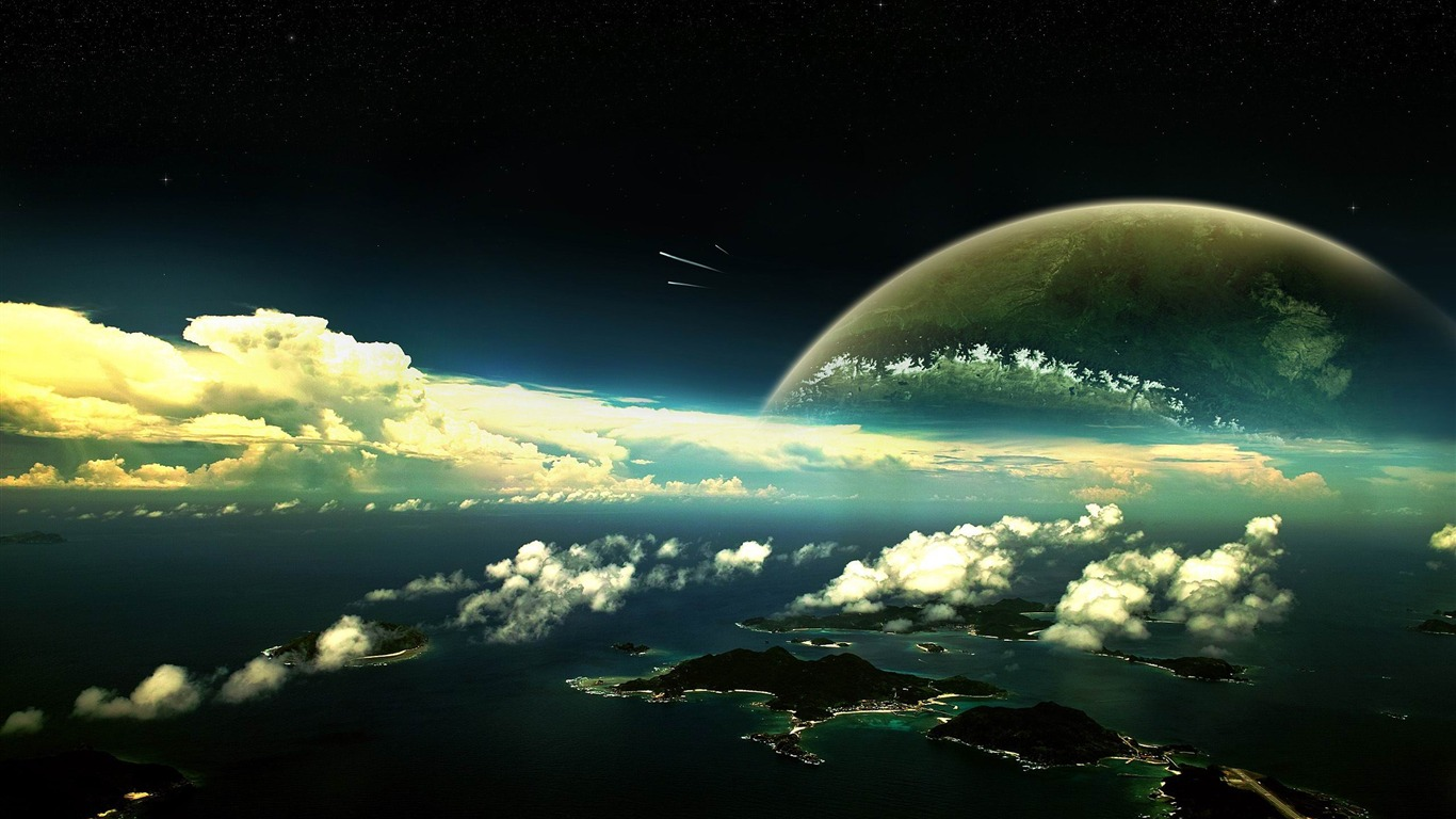 panoramic view-Space exploration secret wallpaper - 1366x768 ...