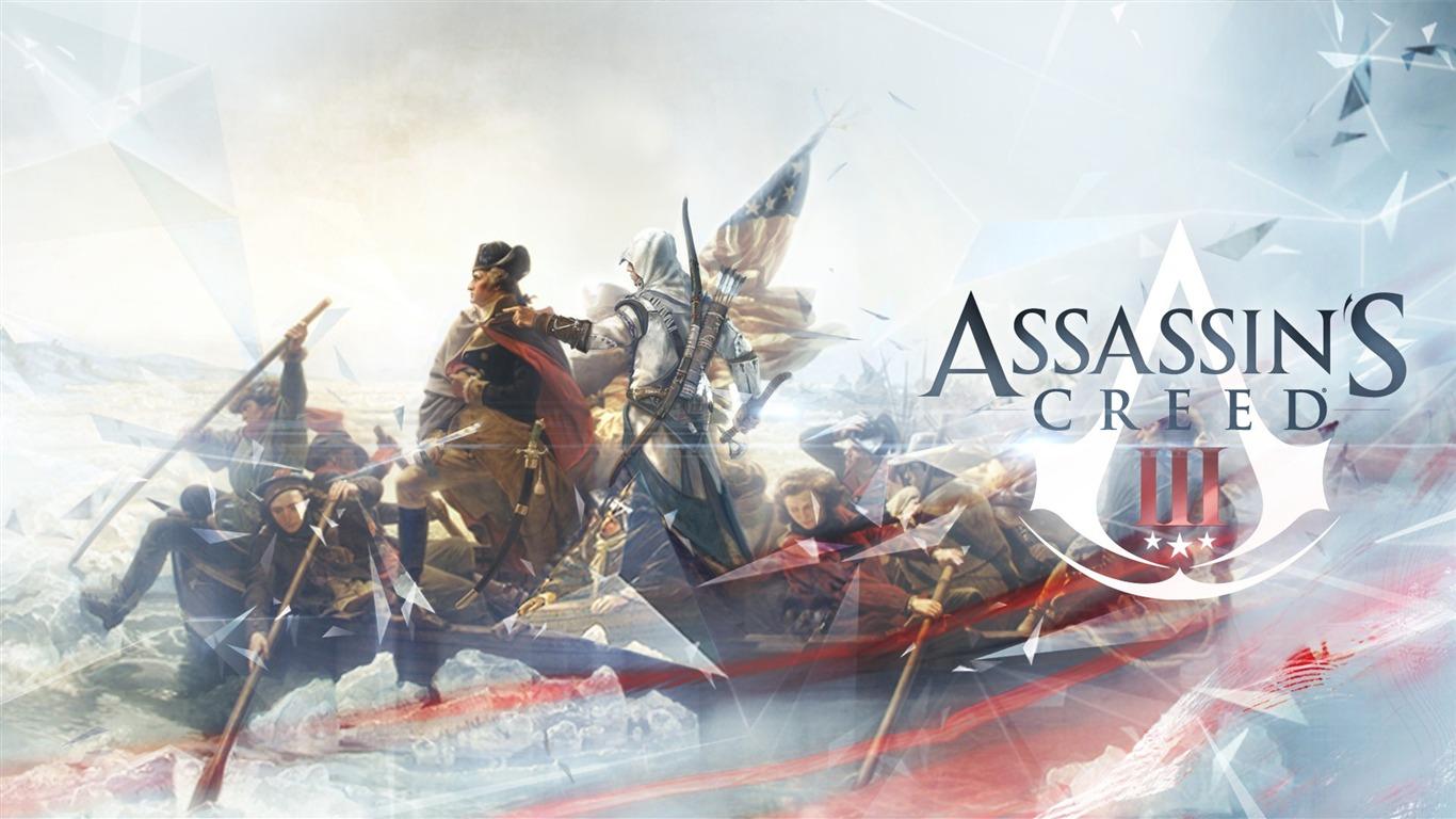 assassins creed 3 game hd wallpaper 031366x768 download