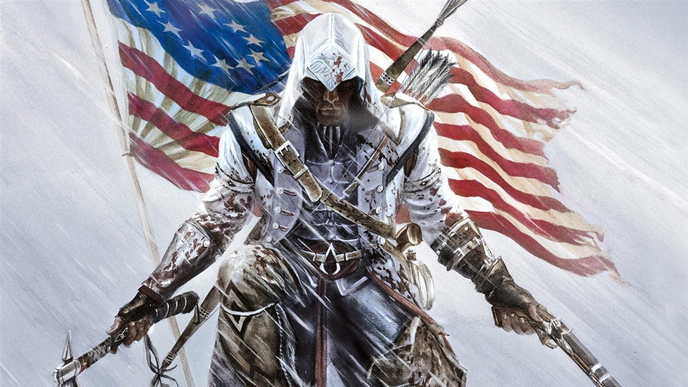 assassins creed 3 game hd wallpaper 171366x768 download