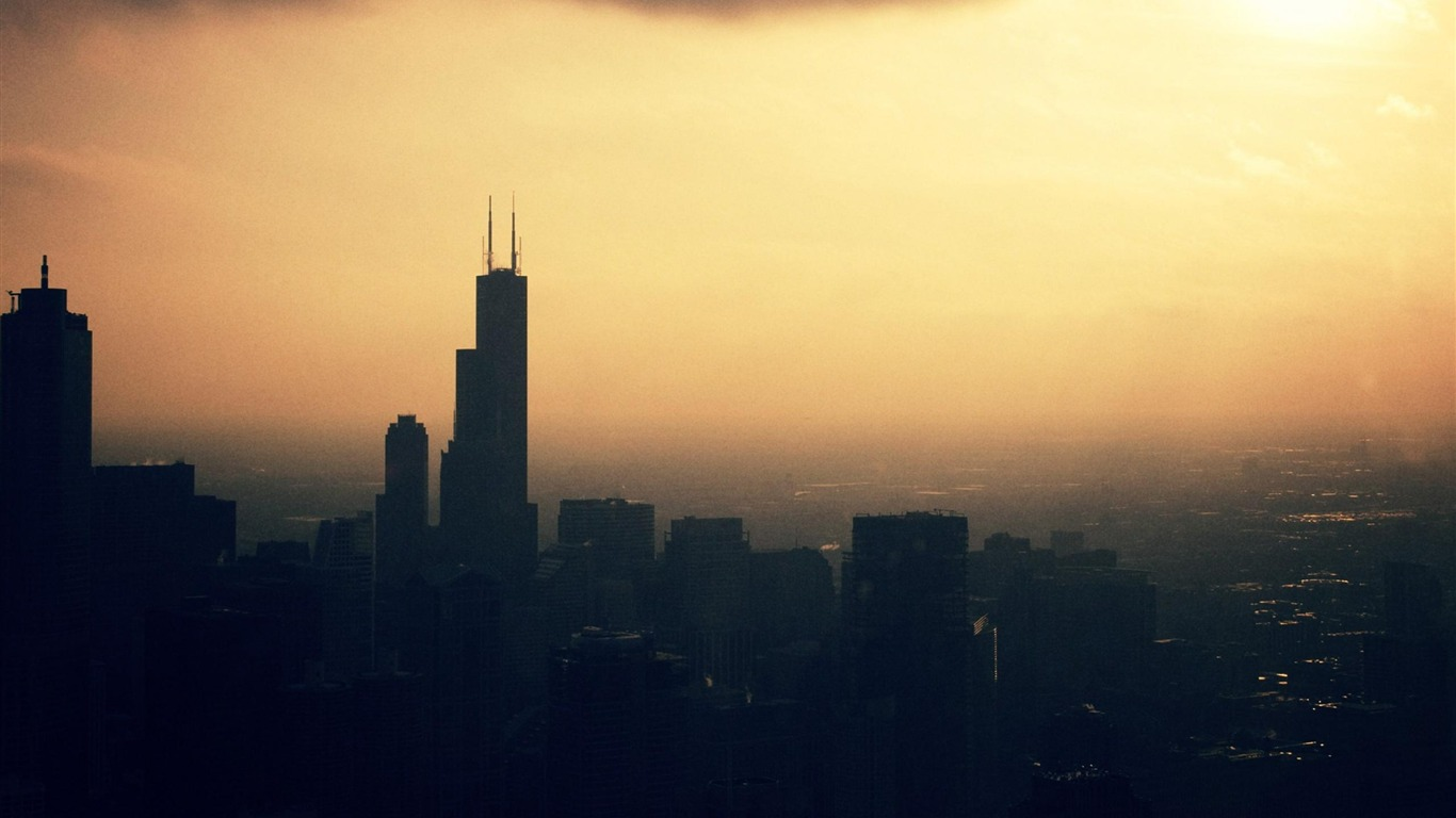 City_of_Chicago-Urban_Landscape_Wallpaper