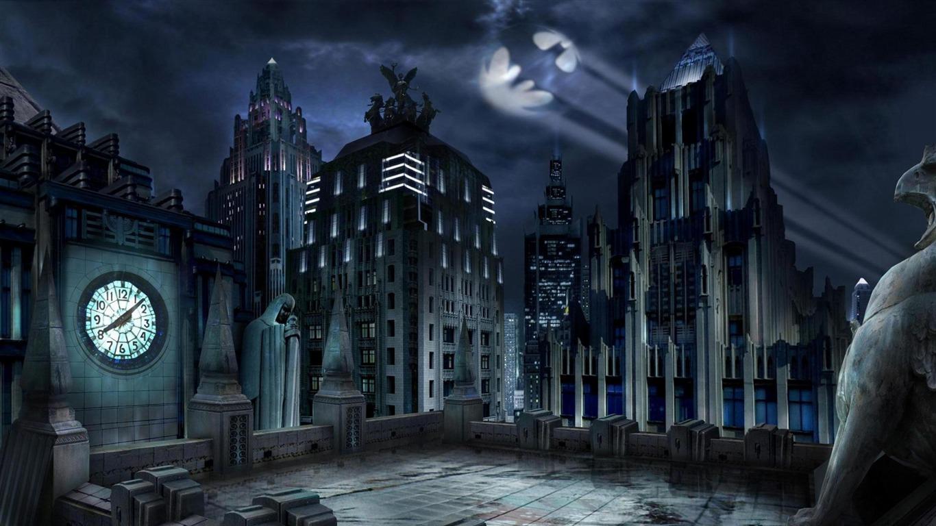 Gotham City Urban Landscape Fondo De Pantalla Avance