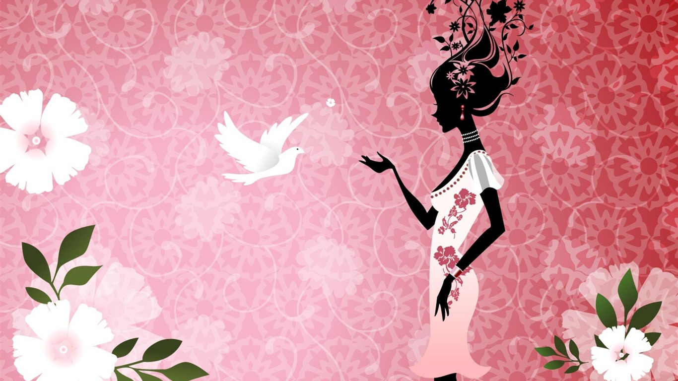 Girl Dove Abstract Art Design Wallpaper Preview 10wallpaper Com