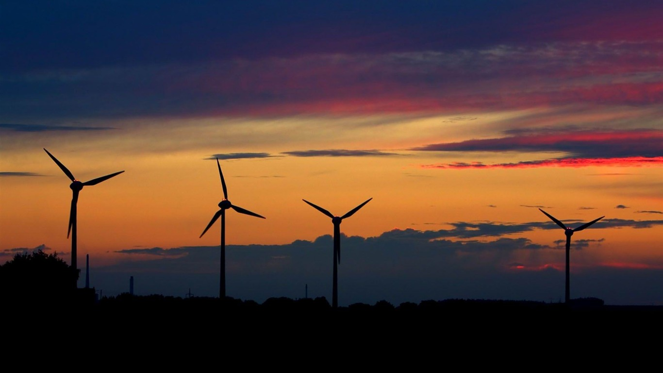 Wind Farm Beautiful Nature Landscape Wallpapers Preview