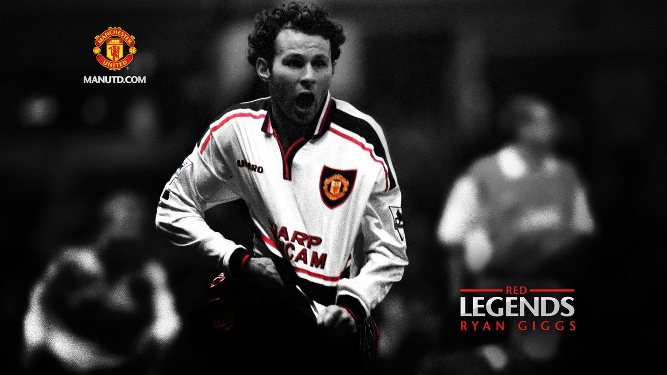 Ryan Giggsred Legendsmanchester United Wallpaper