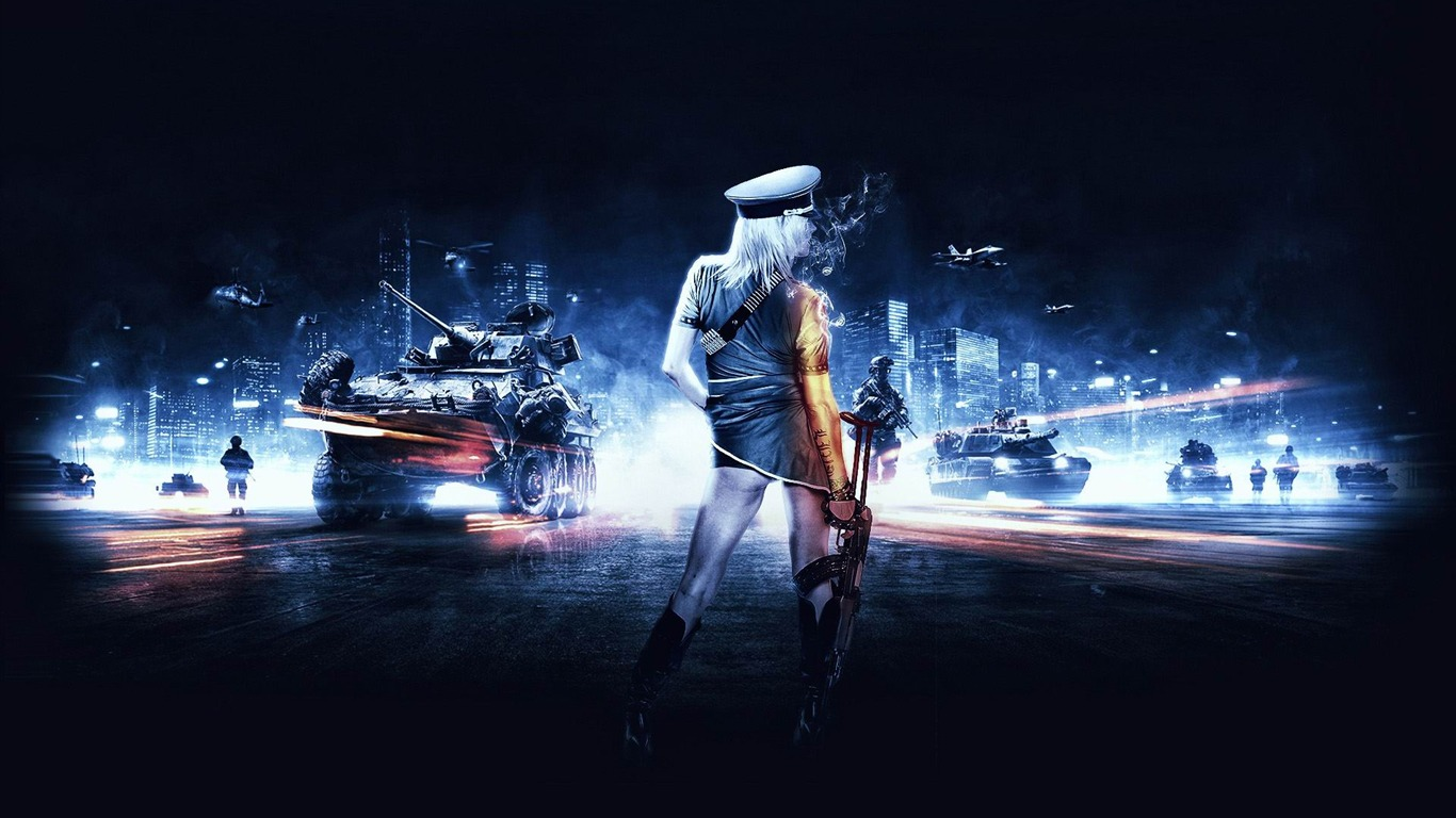 Battlefield 3 girl Games HD Wallpaper-1366x768 Download ...