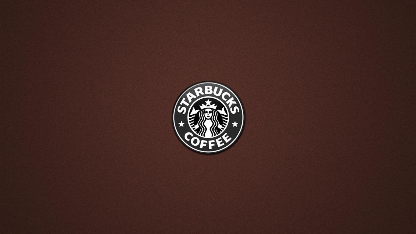 Starbucks logo brand advertising wallpaper 1366x768 for Brand wallpaper