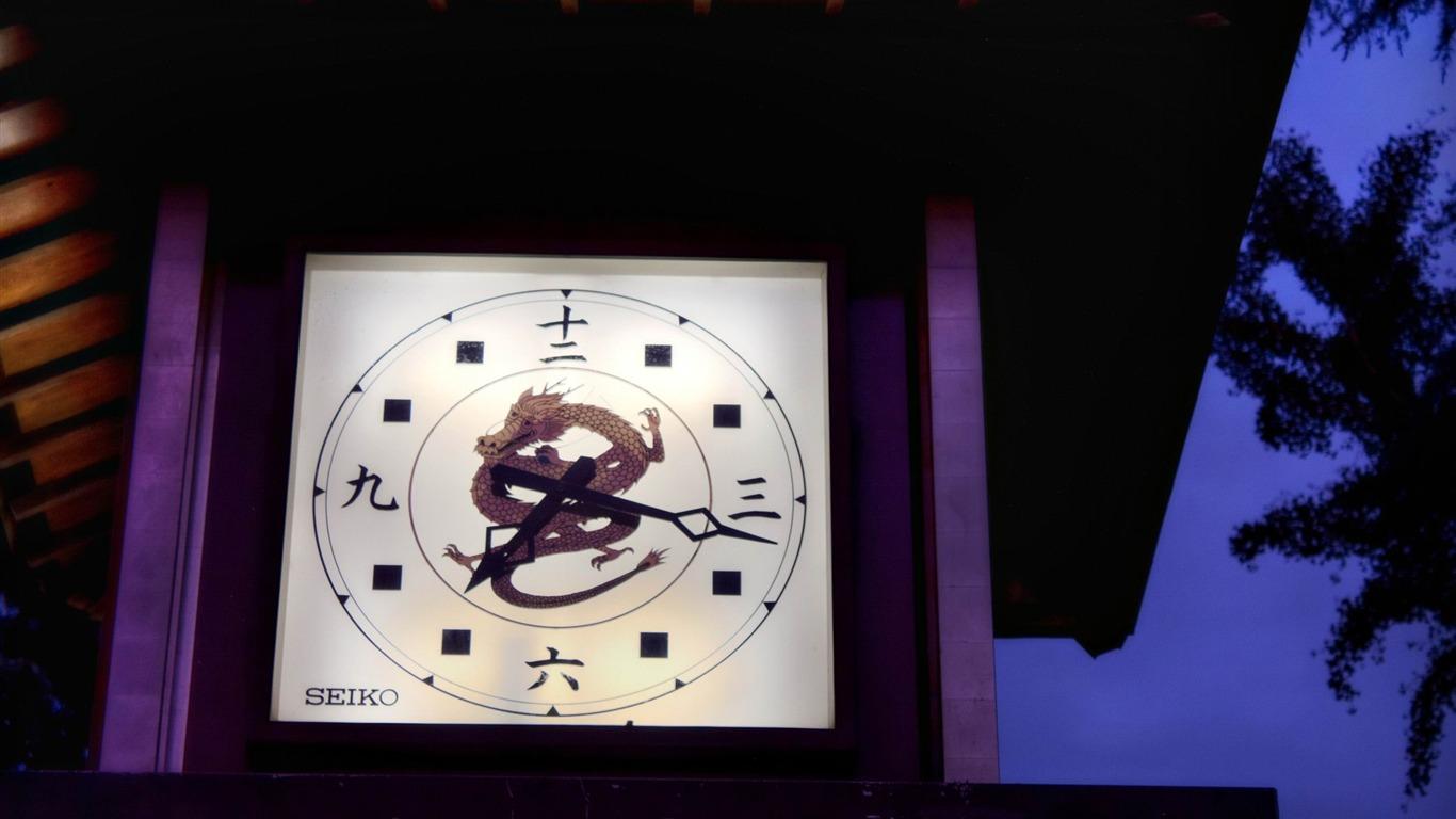 汉字的时钟 日本风景壁纸预览 10wallpaper Com