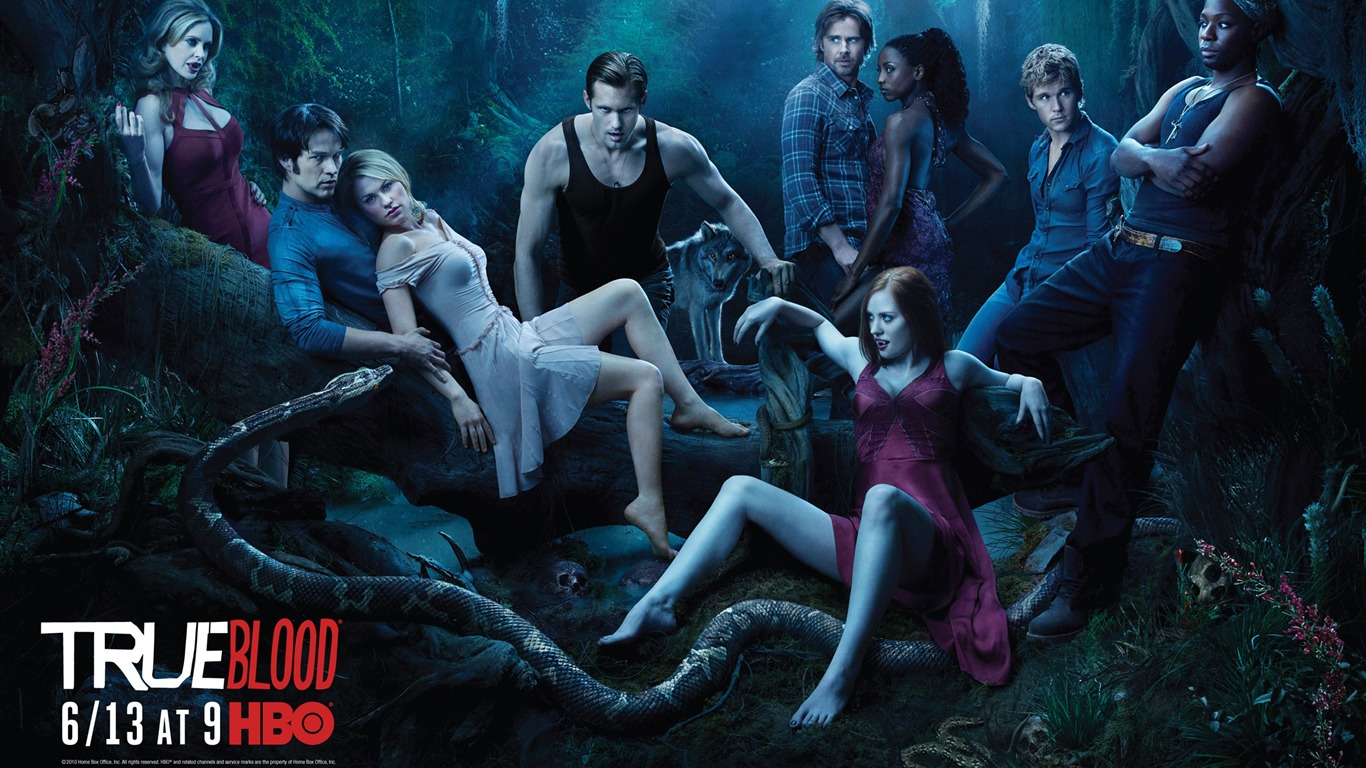 True Blood-American TV series Fondo de pantalla