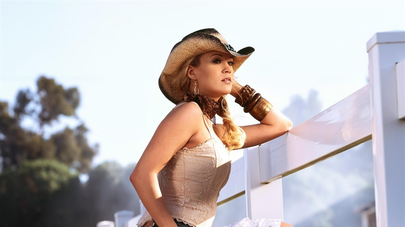 Carrie Underwood Cowgirl Singer Beautiful Photo Wallpaper