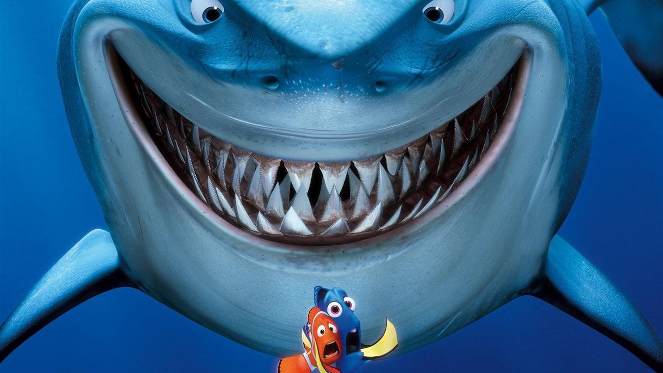 Finding Nemo 3d Movie Hd Desktop Wallpaper 08 1366x768 Wallpaper