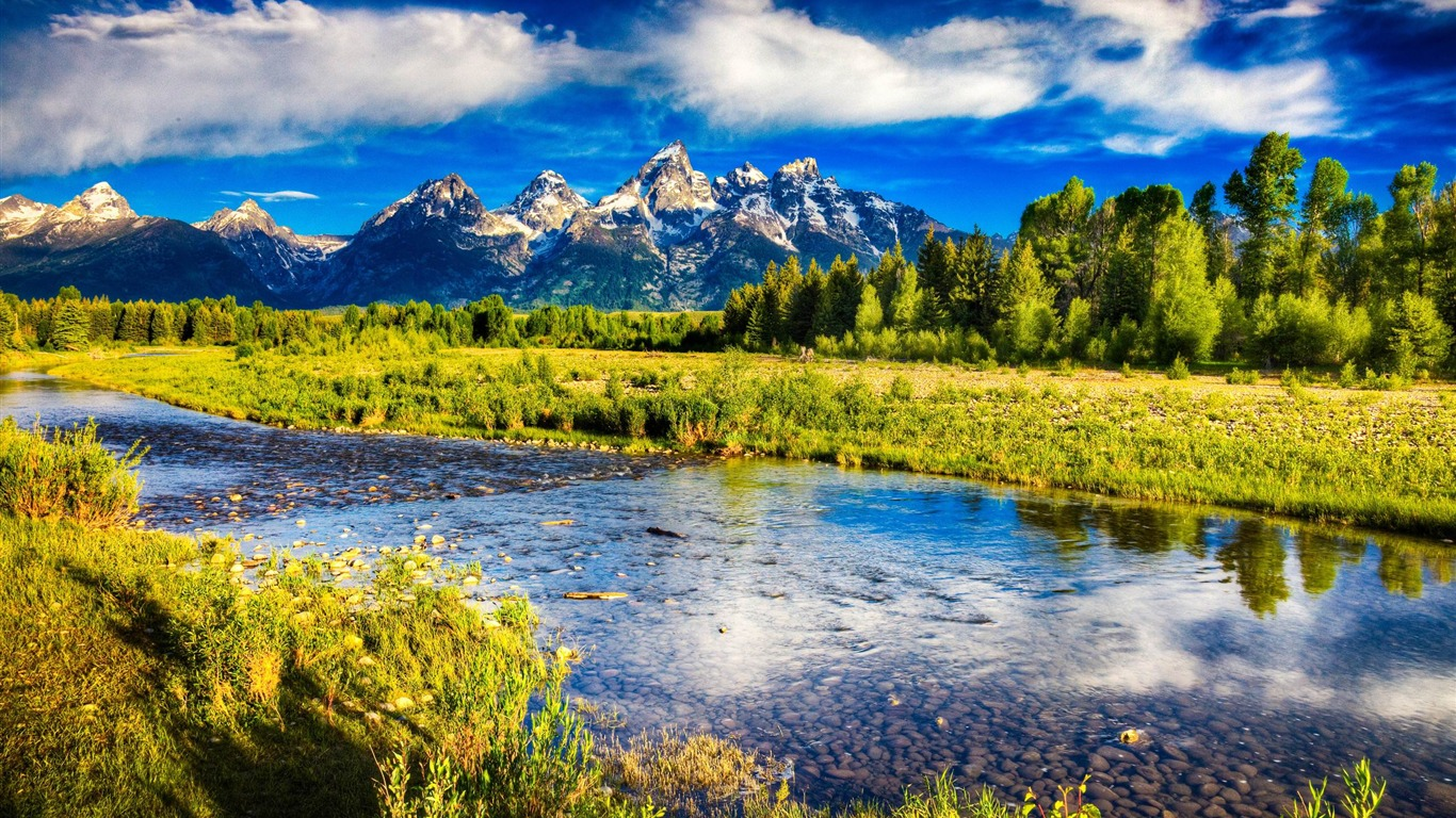 Beautiful Mountain Scenery Hdr Travel Nature Wallpapers Preview
