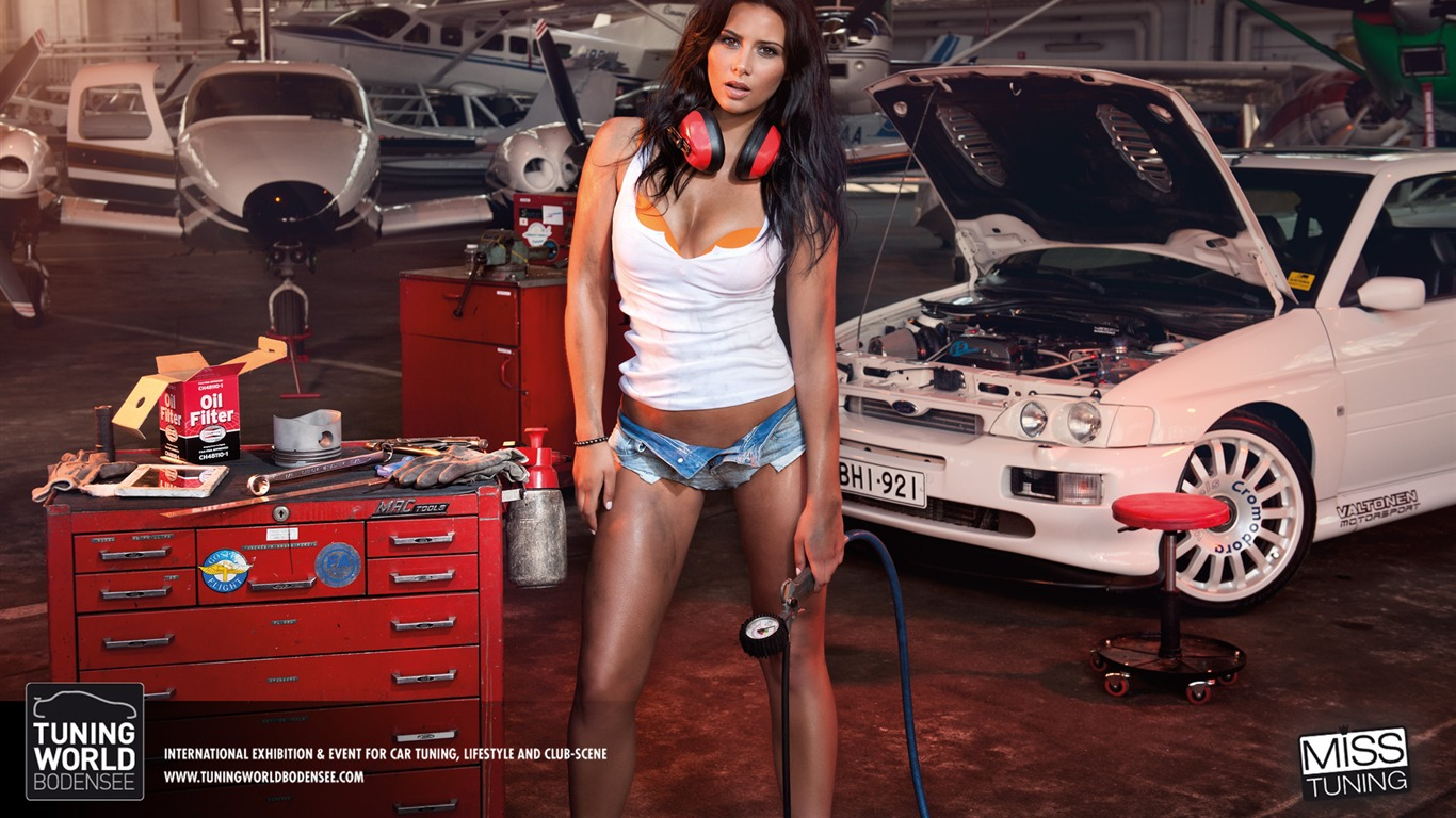 2013 German Tuning Car Models Sexy Lady HD Wallpapers 07
