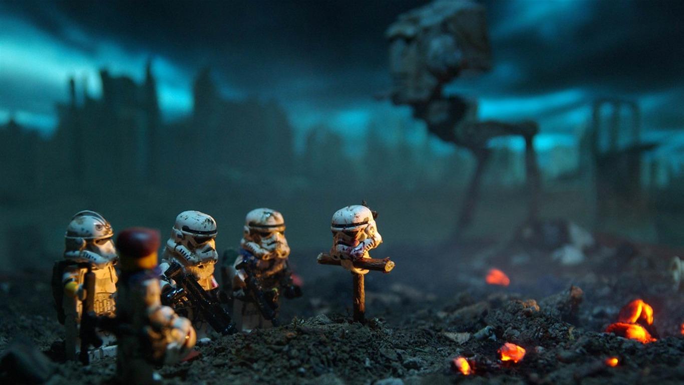 Star Wars Stormtroopers Fantasy Art Artwork Bwing Down: Lego Star Wars Stormtroopers-Creative Graphic Design