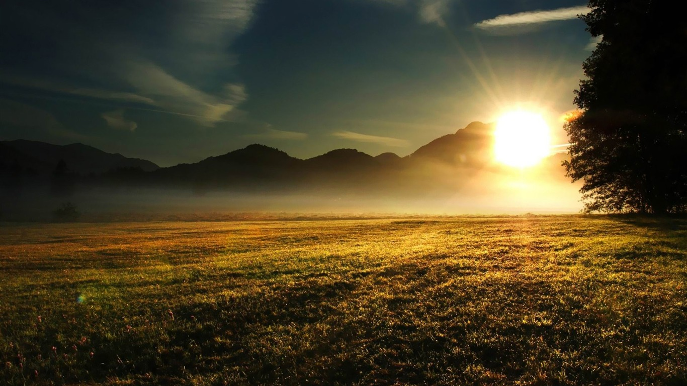 Sunrise Over The Mountains Nature Scenery Wallpapers Preview