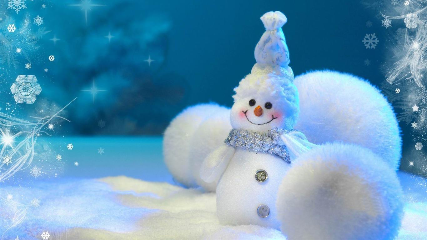 美的かわいい雪だるまクリスマスhdのコンピュータの壁紙プレビュー 10wallpaper Com