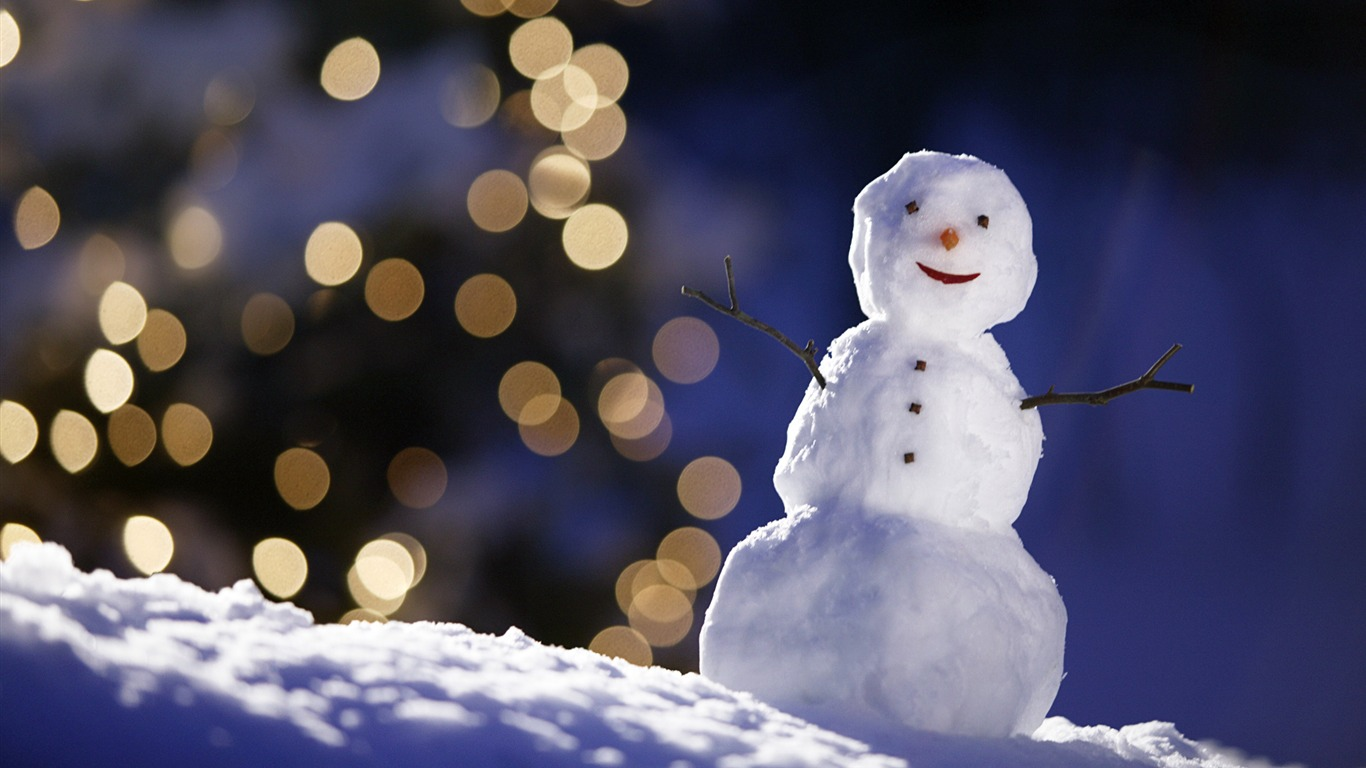 Aesthetic Cute Snowman Christmas HD Computer Wallpaper 16 View