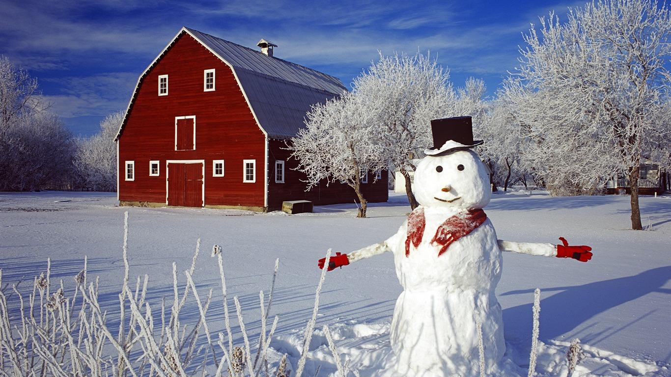 Aesthetic cute snowman Christmas HD computer wallpaper 23 ...