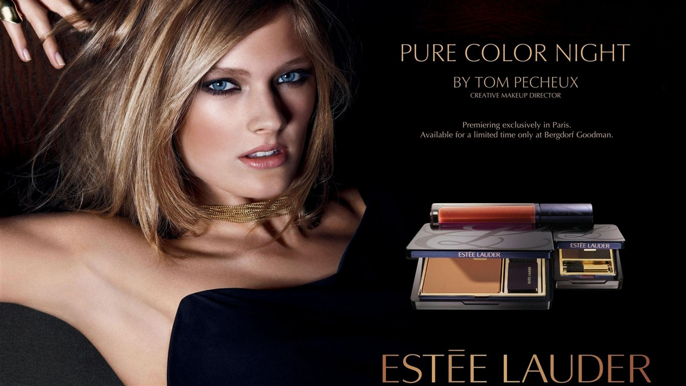 est e lauder cosmetics fille blonde 2012 publicit de. Black Bedroom Furniture Sets. Home Design Ideas