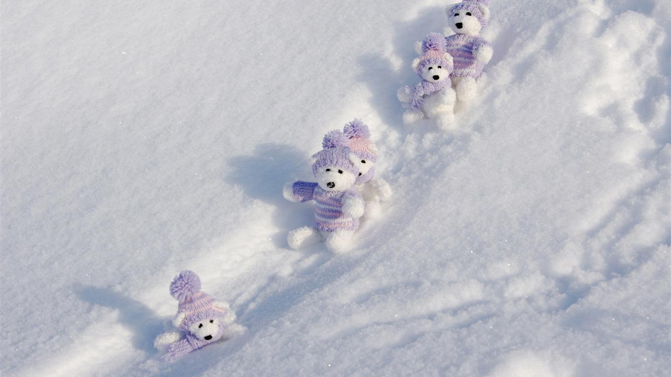 Winter Toys 10 And Up : Oursons et la neige beau fond d écran paysage hiver
