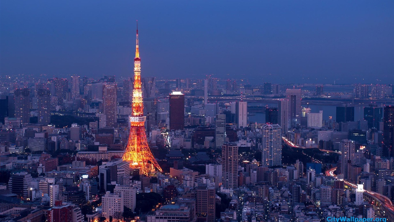 Tokyo Tower Japan Cities Landscape Photography Wallpaper 01