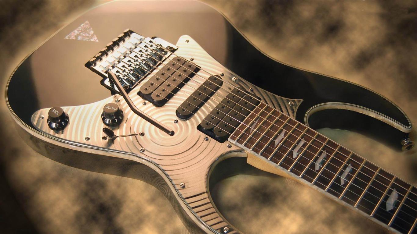 Ibanez Guitar music Theme Desktop Wallpaper 1366x768