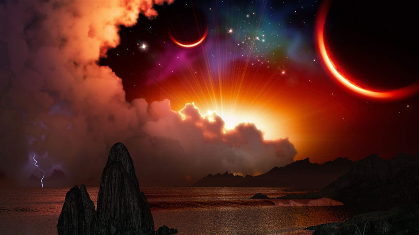 Hermoso Espacio Universo Espacio Hd Wallpaper Avance